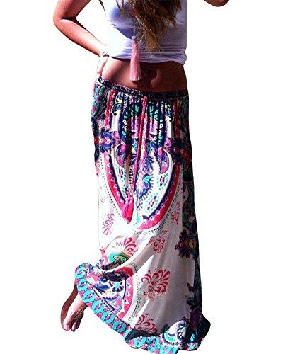 Mujeres falda maxi playa verano Bohemio Impresión larga falda Como Imagen