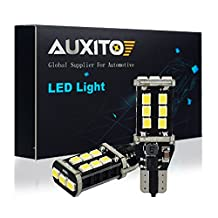 AUXITO 912 921 LED Backup Light Bulbs 1000 Lumens High Power 2835 15-SMD Chipsets Extremely Bright Error Free T15 906 W16W for Back Up Lights Reverse Lights, 6000K White (Pack of 2)