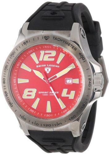"Swiss Legend Men's 10043-GM-05 ""Sprint Racer"" Stainless Steel Watch with Black Strap"
