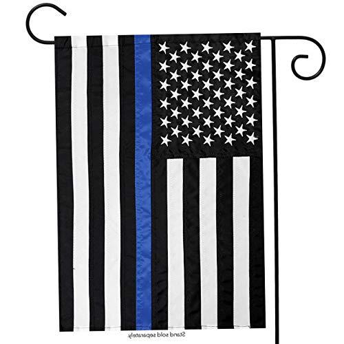 Kaputar 12x18 USA Thin Blue Line Embroidered Garden Flag Police Memorial Honor USA Ship | Model FLG - 6458