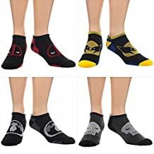 Ankle Socks - Marvel Comics - Wolveine, Punisher, Venom, Deadpool Set asmvlperform