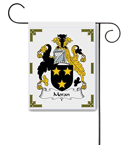 Carpe Diem Designs Moran Coat of Arms/Moran Family Crest 11 X 15 Garden Flag - Made in The U.S.A. ()