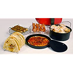 GoWISE USA 6 pc. Air Fryer Accessory Set- 6-inch Baking and Pizza Pan - Fits 2.75-3.7-Quart GoWISE USA Air Fryers