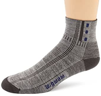 Wigwam Men's Rebel Fusion Trekker Socks, Grey, Sock Size:10-13/Shoe Size: 6-12