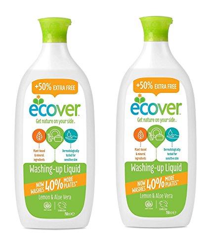 【2個セット】エコベール 食器用洗剤レモン増量品 本体750ml×2