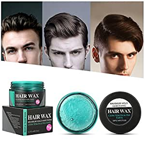 Strong Hold Hair Wax, Luckyfine Hair Styling Clay, Hair Styling Cream for Man, Unisex Matte Finish Wax for Textured, Thickened Hair Mud Cream