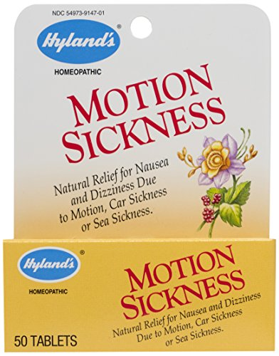 Hyland's Motion Sickness Relief Tablets, Natural Relief for Nausea and Dizziness, 50 Count