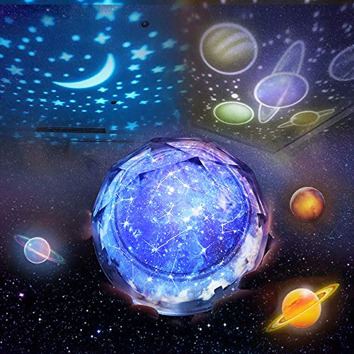 Girls Boys Toys Age 2-10, BFYWB Night Light Moon Star Universe Rotating for Kids Baby Girls Toys for 2-10 Year Old Girls 2-10 Year Old Girl Gifts Birthday Best Gifts for Girls