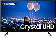 "Smart TV LED 50"" 4K Cristal UHD Samsung UN50TU8000GXZD, HDMI 2, USB 1,"