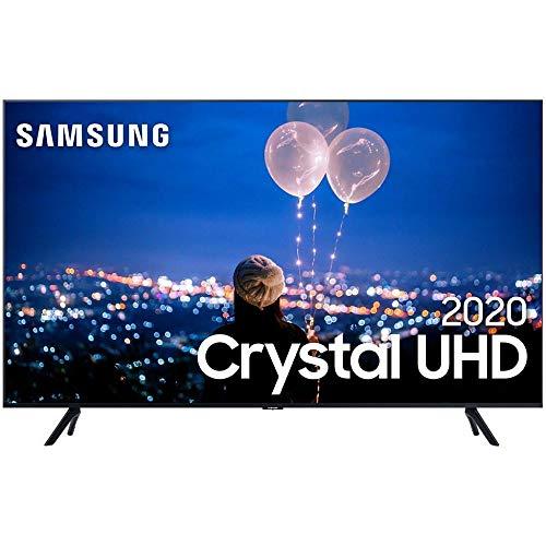 """Smart TV LED 50"""" 4K Cristal UHD Samsung UN50TU8000GXZD, HDMI 2, USB 1, WI-FI"""