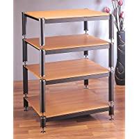 BL Series Stackable Audio Video Rack (Black w Black Shelf)