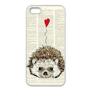 YNACASE(TM) Hedgehog Customized Cell Phone Case for iPhone 5,5G,5S,Customized Cover Case with Hedgehog