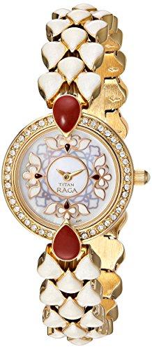 71261af8a2e Titan Women s 9747YM01 Theme Raga Intricate Jewelry Inspired Crystal Gold  Tone Watch