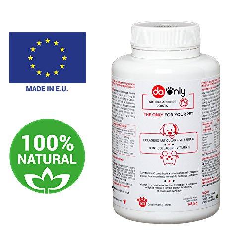 Kollagen Nahrungsergänzungsmittel für Hunde & Katzen, natürliche Alternative von Medikamenten für Haustiere zur Überwindung von Arthrose und Gelenkschmerzen von Hund und Katze, ohne Glucosamin (Standard, 180)
