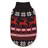 East Side Collection Acrylic Caribou Creek Dog Sweater, Small, 12-Inch, Black, My Pet Supplies