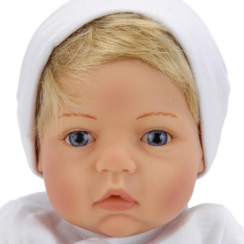 Lee Middleton Wee Wonder Tiny Love Blonde/Blue (Lee Middleton Babies)