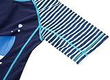 ATTRACO Striped Rash Guard Swim Shirts Baby Boys