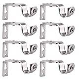 Creatyi Set of 8 Bronze Curtain Rod Brackets for 3/4 or 5/8 Inch Rod (Silver)