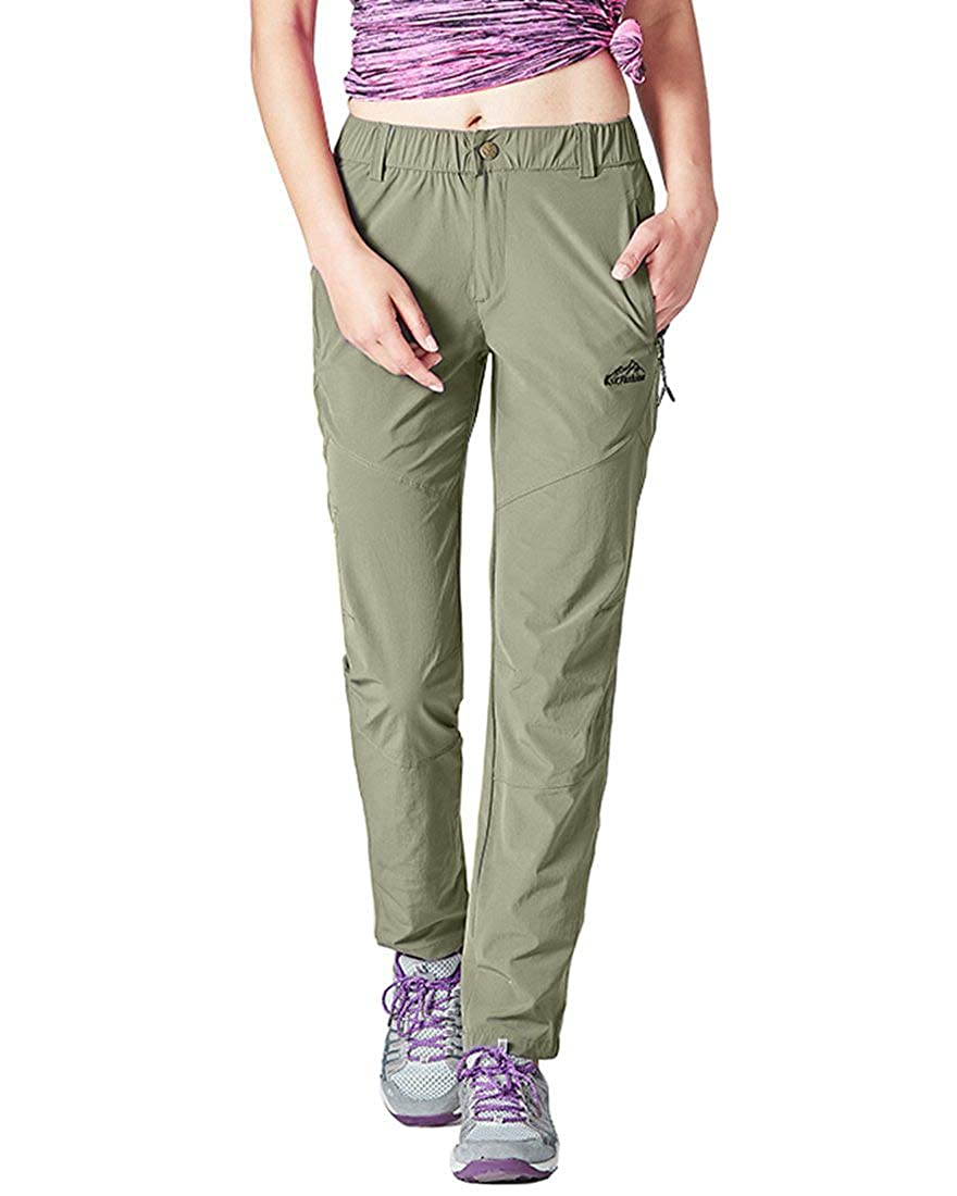Rdruko Womens Outdoor Lightweight Quick Dry Sportswear Water Resistant Hiking Pants with Pockets
