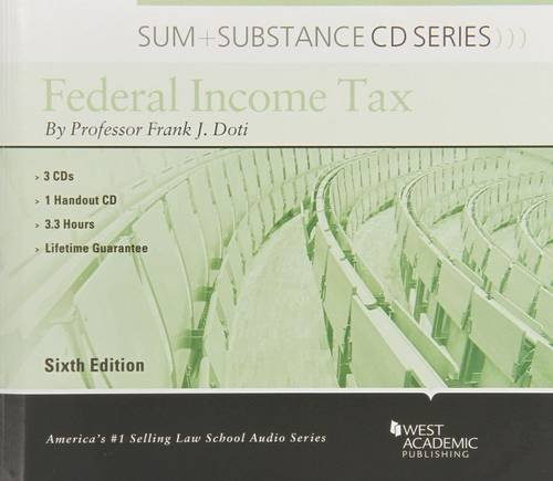 Audio on Federal Income Tax (Sum and Substance Audio) by West Academic Publishing