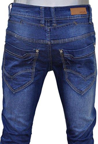 Jaylvis jeans bleu bleached coupe droite pz030-7-blu