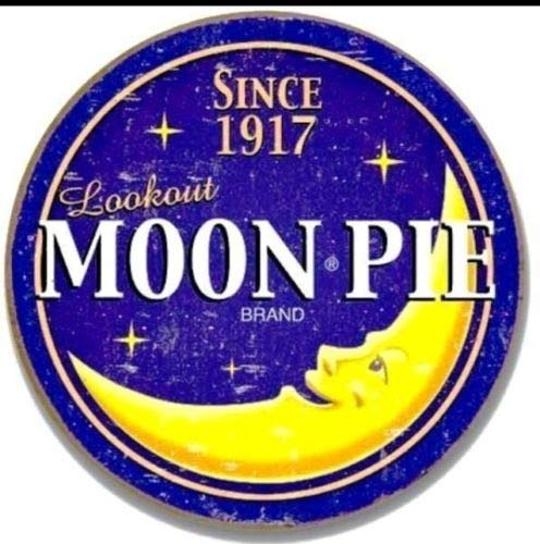 ShopForAllYou Vintage Decor Signs New Moon Pie Round Logo Metal Tin Sign 12