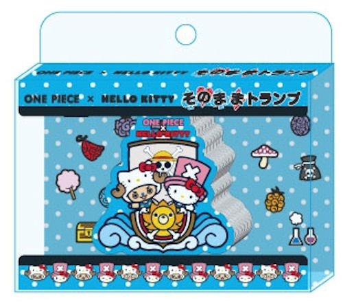 ONE PIECE x HELLO KITTY as playing cards by Ensky