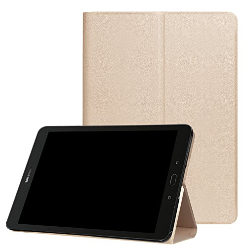 Price comparison product image Samsung Galaxy Tab S3 9.7 Case, [Corner Protection] Multi-Angle Viewing Stand Cover Protective Holder Auto Sleep / Wake for Tab S3 9.7(SM-T820)- Gold
