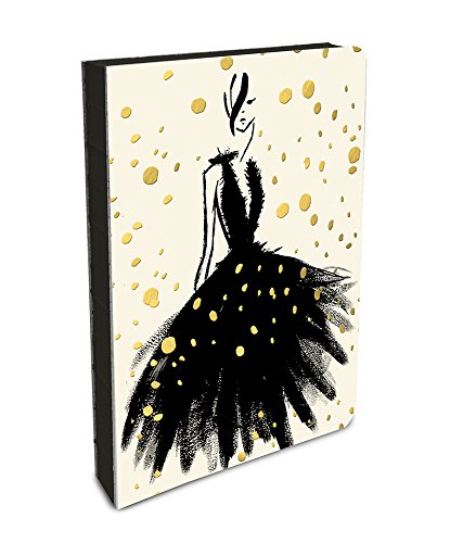 Studio Oh! Hardcover Medium Coptic-Bound Journal Available in 11 Different Designs, Gold Foil Fashion (Executive Calendar Line Desk)