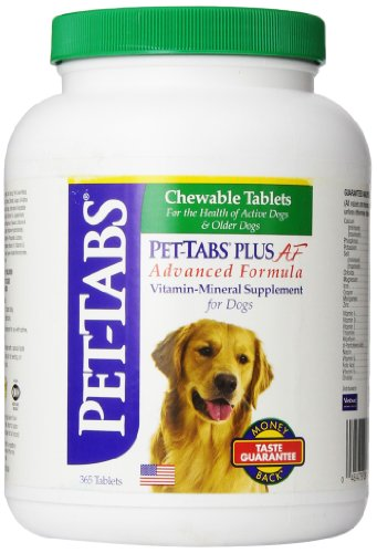 Pet Tabs Plus Advanced Formula Vitamin Supplement, 365 Count