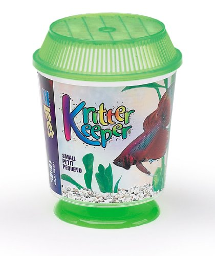 Lee's Kritter Keeper, Round with Lid and Pedestal - Small