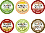 #9: Cha4TEA K-Cup Tea Variety Sampler Pack, 36-Count Keurig K Cups, Multiple Flavors (Green Tea, Black Tea, Jasmine, Earl Grey, English Breakfast, Oolong Tea, Peppermint)