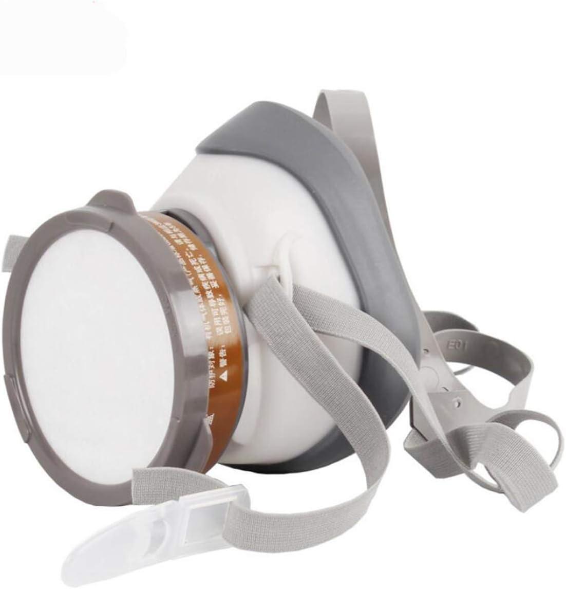LHY SPORTS Máscara De Gas, Máscara De Polvo De Respirador Máscara De Pintura Media Máscara para Pulido A Máquina Soldadura De Polvo Y Otra Protección Laboral