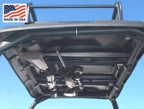 UTV Overhead Gun Rack For Yamaha Rhino | 9.0'' to 9.75'' front to back | 9.0'' to 9.75'' front to back by Great Day by Great Day (Image #3)