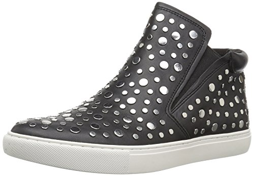 Kenneth Cole New York Women's Kalvin Mid-Top Pull Stud Detail Techni-Cole 37.5 Lining Sneaker, Black, 6 Medium (Kenneth Cole New York Pull)