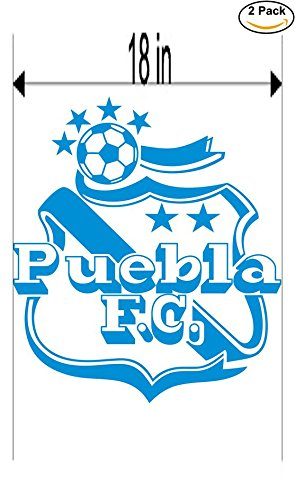 CanvasByLam Puebla Mexico Soccer Football Club FC 2 Stickers Car Bumper Window Sticker Decal Huge 18 inches by CanvasByLam