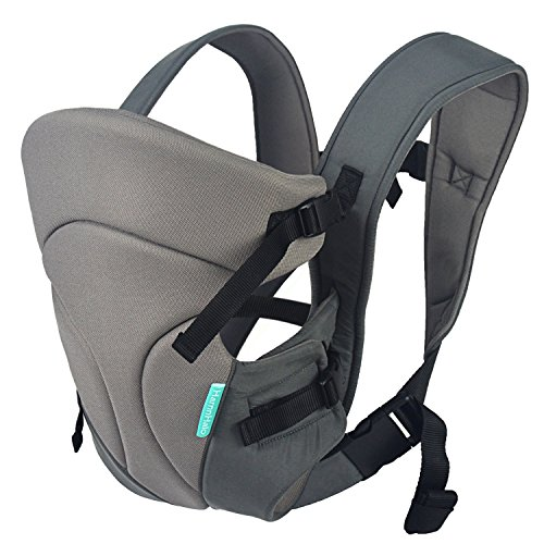 HarnnHalo 3 in 1 Baby Carriers, Back Carrier, Front Carrier, 11, Gray