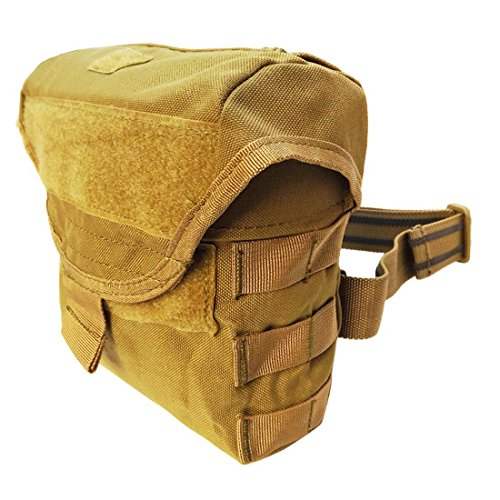 TAN Molle Tactical Drop Leg Thigh Pouch RIG MAG SWAT Dump Bag Holster