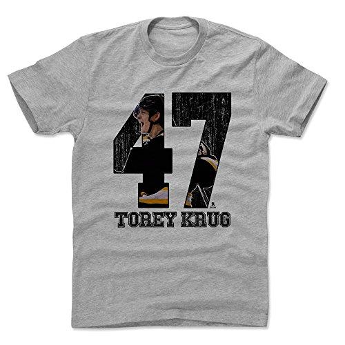 500 LEVEL Torey Krug Cotton Shirt Medium Heather Gray - Boston Hockey Men's Apparel - Torey Krug Game K - Krug Gifts