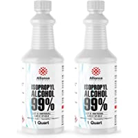 Alliance Chemical - Isopropyl Alcohol 99% - Two Sealed Quart Bottles - 64 Fluid Ounces - High Purity Rubbing Alcohol