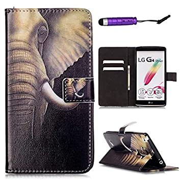 Compatible con LG G4 Stylus LS770 PU Carcasa Leather Wallet ...
