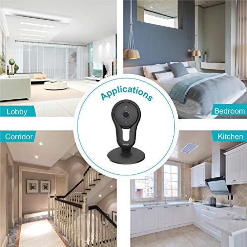 Home Camera Indoor, UNIOJO WiFi Camera with Night Vision, Two Way Audio, Movement Tracking, Activity Alerts for Home/Office/ Baby/Nanny/Pet Monitor with iOS, Android App - Cloud Service Available