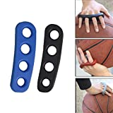 2Pcs Basketball Shooting Trainer Training Aid for Youth, Silicone Shot Lock Hand Palm Orthotics (Blue / Black)