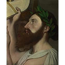 'Jean Auguste Dominique Ingres Pindar And Ictinus ' Oil Painting, 18 X 23 Inch / 46 X 57 Cm ,printed On Perfect Effect Canvas ,this Beautiful Art Decorative Prints On Canvas Is Perfectly Suitalbe For Basement Decoration And Home Decor And Gifts