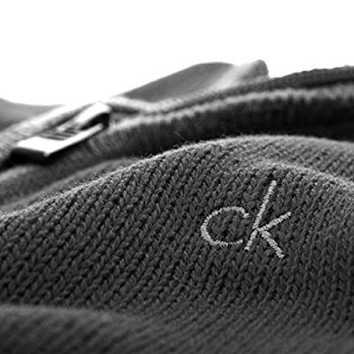 Calvin Klein Golf Men's Chunky Cotton Sweater - US S - Charcoal