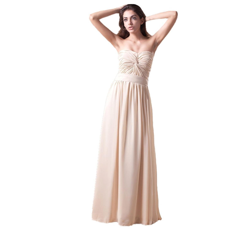Jspoir Melodiz Women's Pretty Empire Chiffon Strapless Long Evening Dress