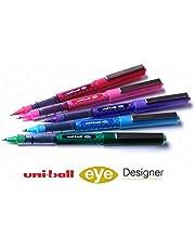 Uni-Ball UB-157 Designer Eye Rollerball Pen Set - Pack of 5 Swatch Colours