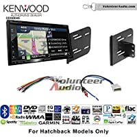 Volunteer Audio Kenwood Excelon DNX694S Double Din Radio Install Kit with GPS Navigation System Android Auto Apple CarPlay Fits 2012-2013 Nissan Versa