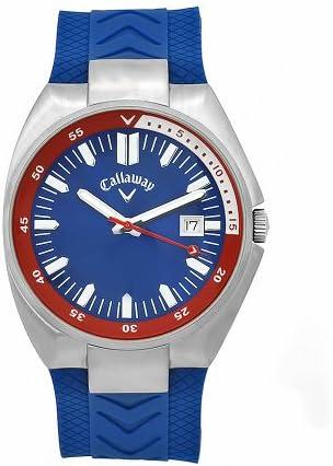 Callaway Men s CY2082 Golf Blue Rubber and Dial Quartz Watch