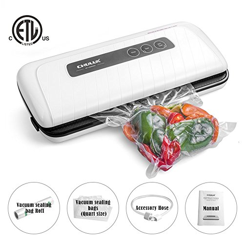 Cheapest Prices! CHULUX Sous Vide Vacuum Sealer,Food Preservation Vacuum Sealing System with Start B...